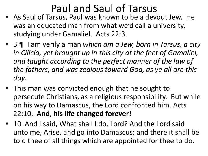 Paul and Saul of Tarsus