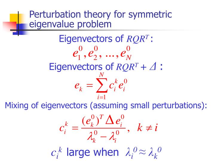 Perturbation theory for symmetric eigenvalue problem