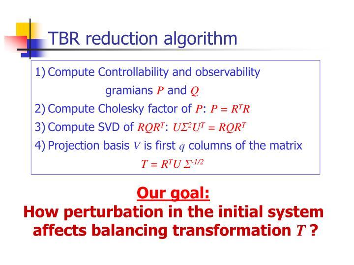 TBR reduction algorithm