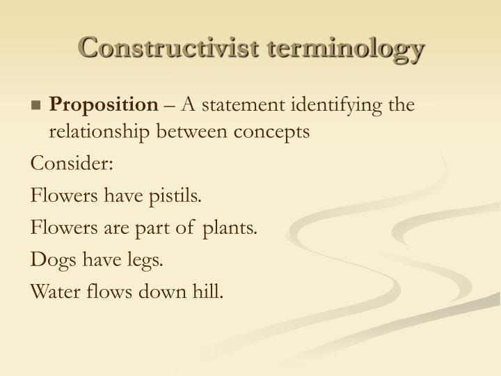 Constructivist terminology