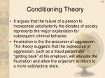 conditioning theory