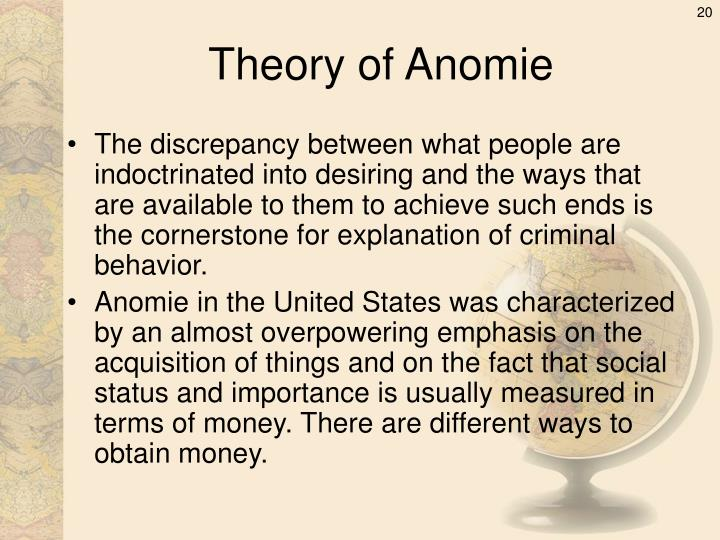Theory of Anomie