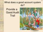 what does a good account system do
