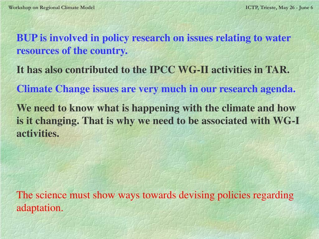 Workshop on Regional Climate Model