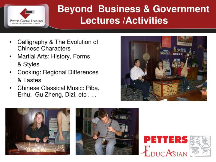 Beyond  Business & Government