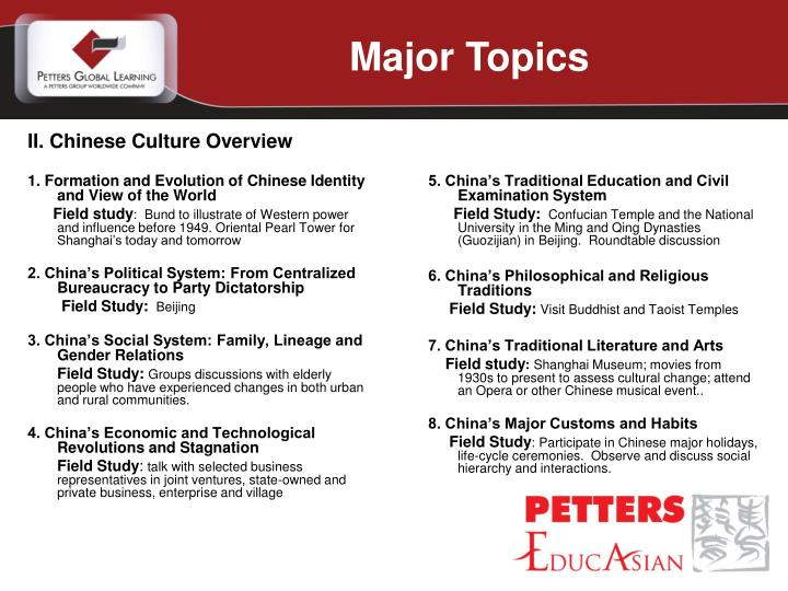 1. Formation and Evolution of Chinese Identity and View of the World