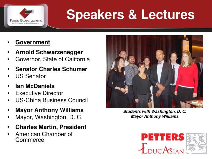 Speakers & Lectures