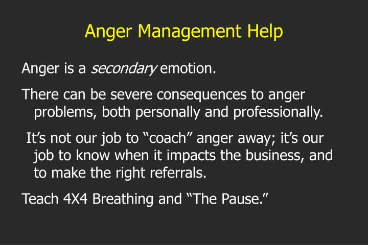 Anger Management Help