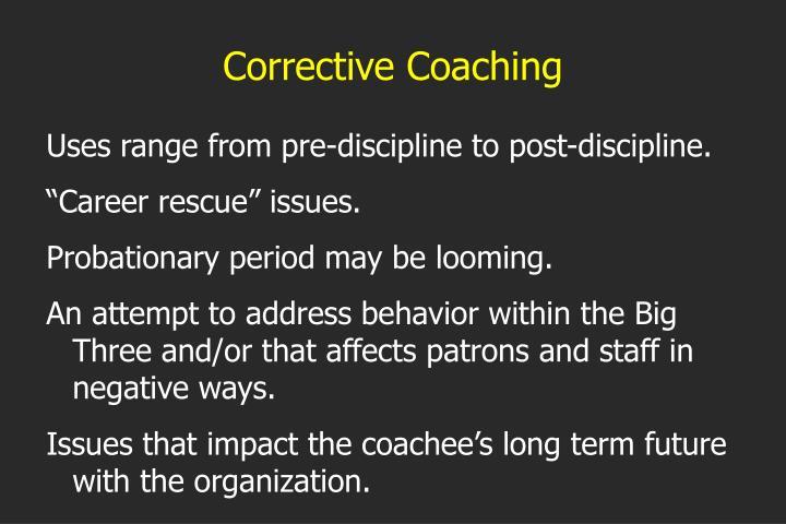 Corrective Coaching