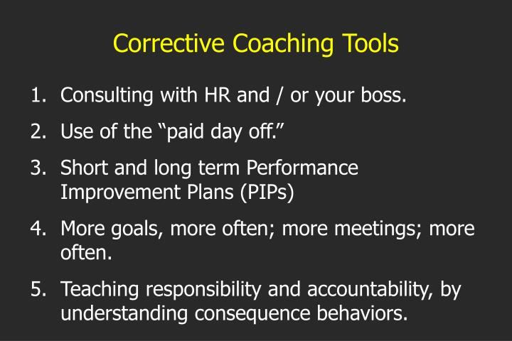 Corrective Coaching Tools