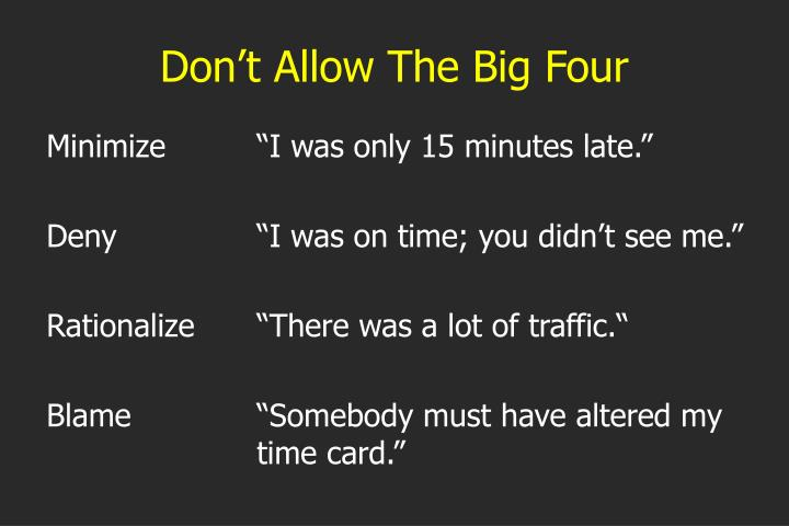 Don't Allow The Big Four