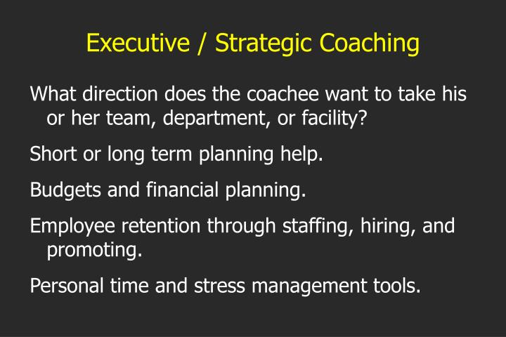 Executive / Strategic Coaching