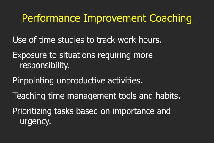Performance Improvement Coaching