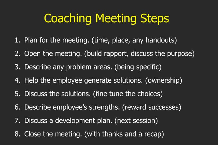 Coaching Meeting Steps