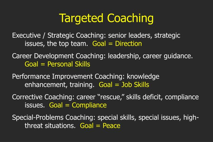 Targeted Coaching