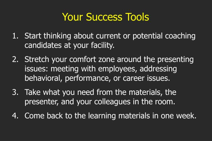 Your Success Tools
