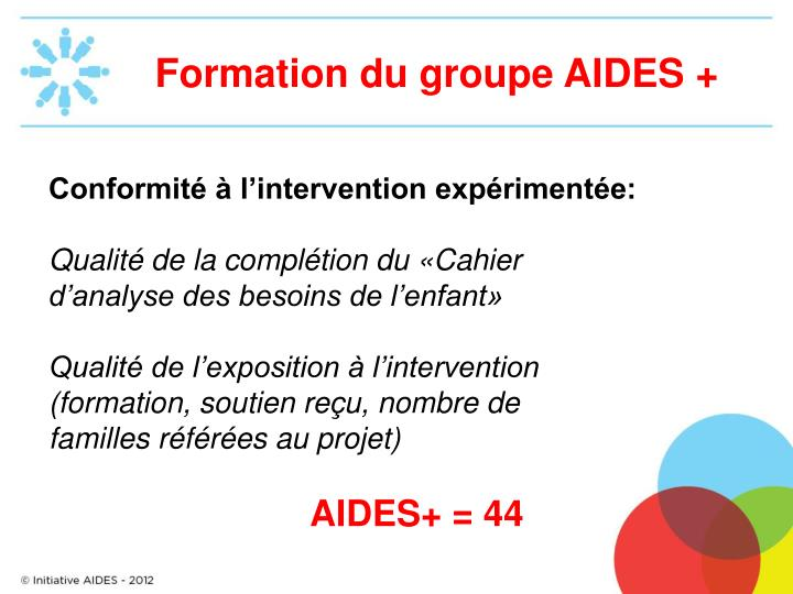 Formation du groupe aides