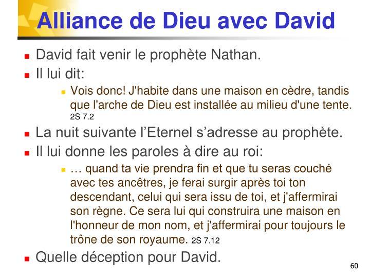 Alliance de Dieu avec David