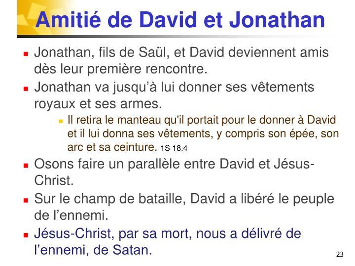 Amitié de David et Jonathan