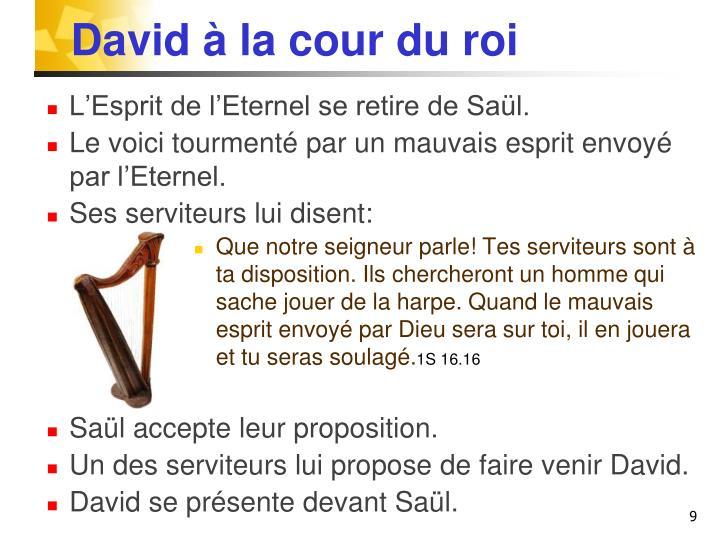 David à la cour du roi