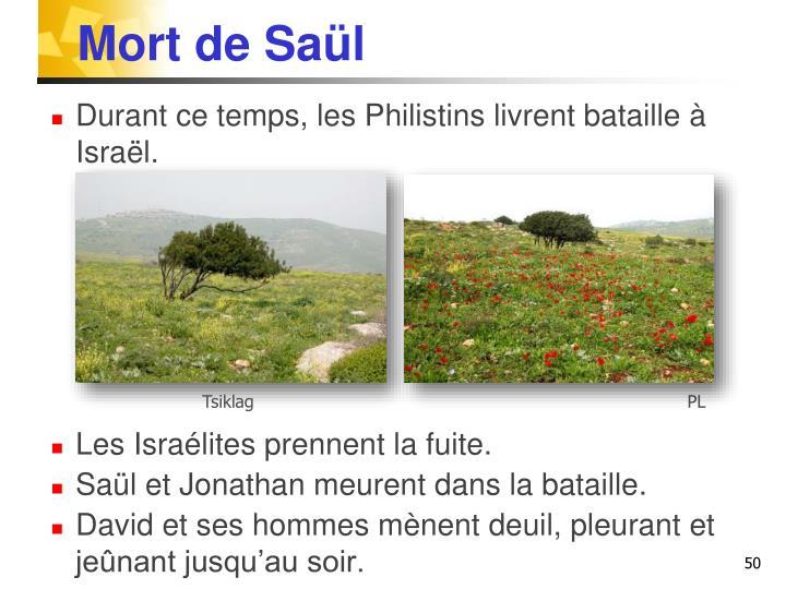 Mort de Saül