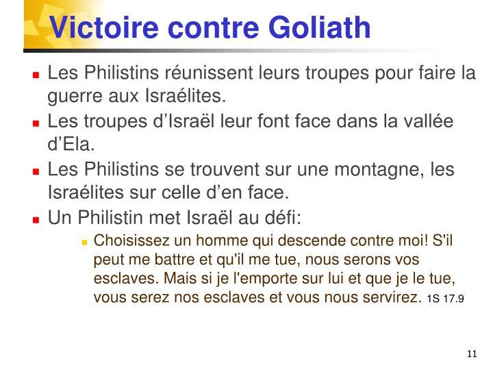 Victoire contre Goliath