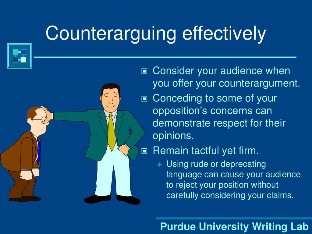 Counterarguing effectively