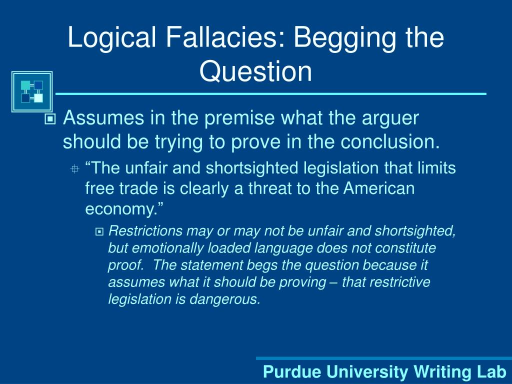 Logical Fallacies: Begging the Question