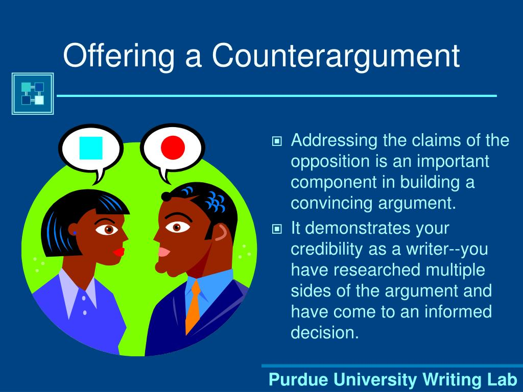 Offering a Counterargument