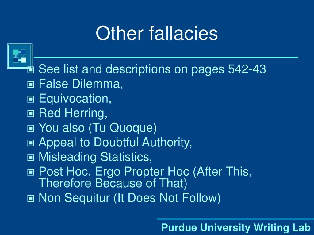 Other fallacies
