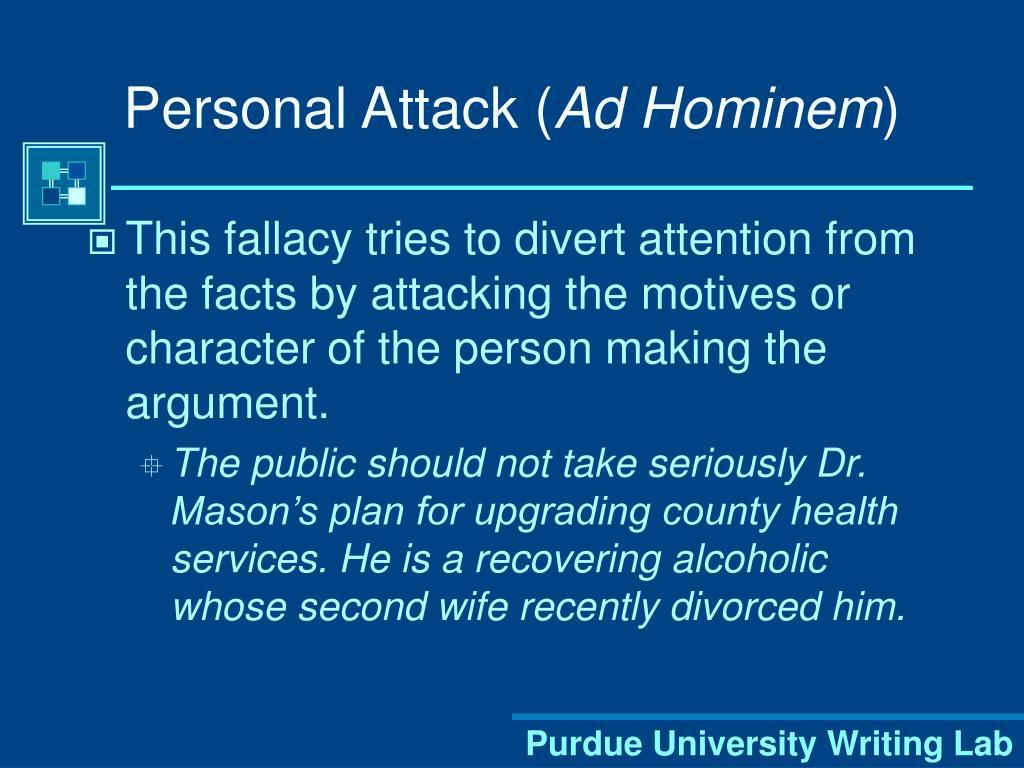 Personal Attack (