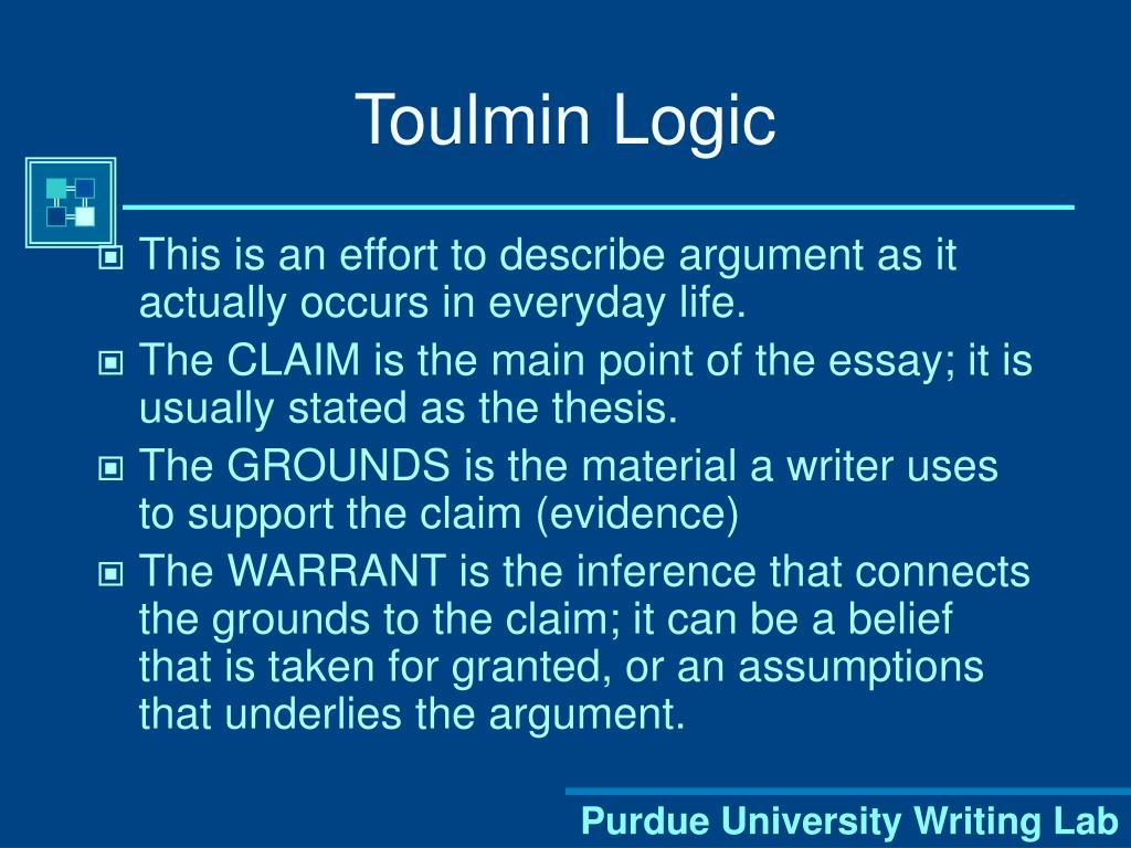 Toulmin Logic
