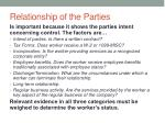 relationship of the parties