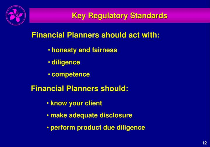 Key Regulatory Standards