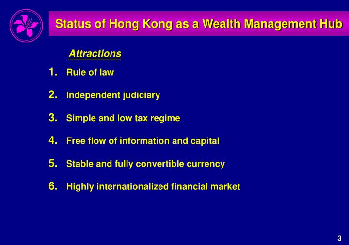 Status of hong kong as a wealth management hub