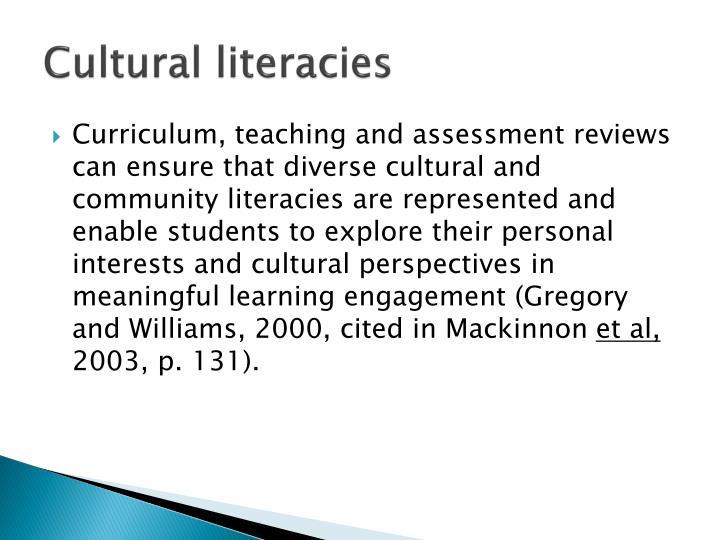Cultural literacies