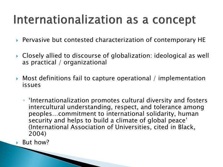Internationalization as a concept