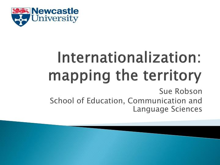 Internationalization mapping the territory