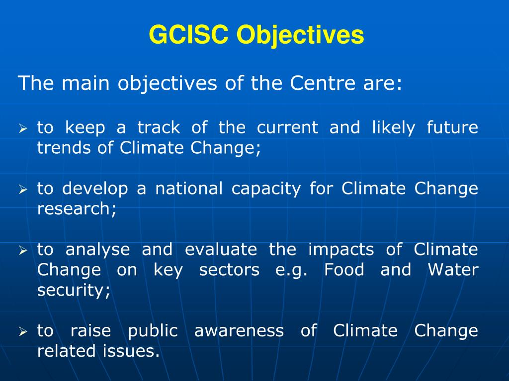 GCISC Objectives