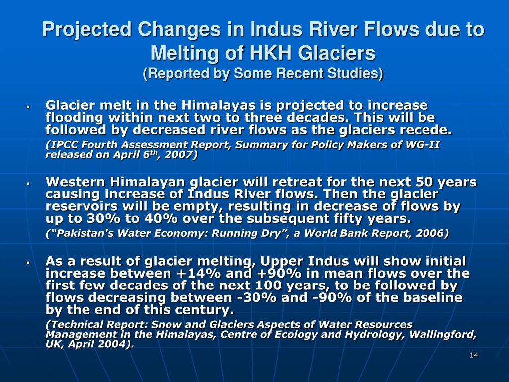 Projected Changes in Indus River Flows due to Melting of HKH Glaciers