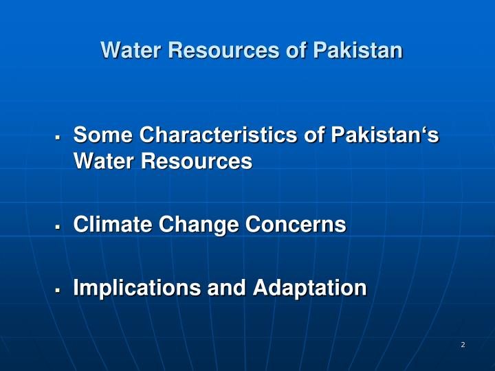 Water resources of pakistan