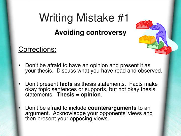 Writing Mistake #1