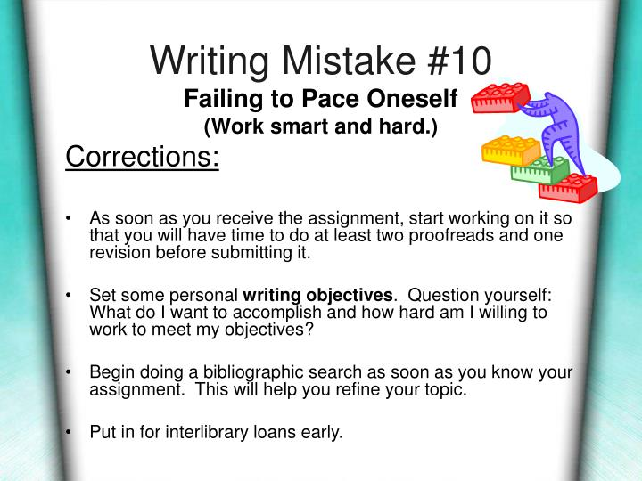 Writing Mistake #10
