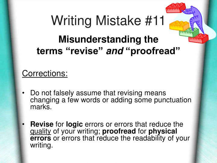 Writing Mistake #11