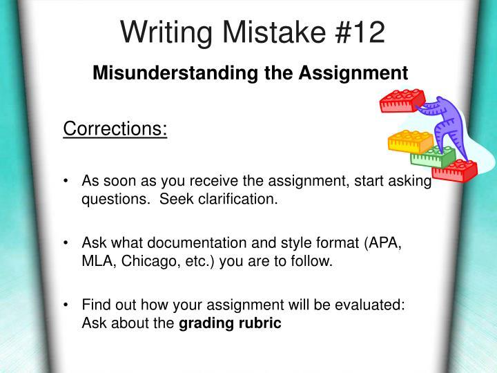 Writing Mistake #12