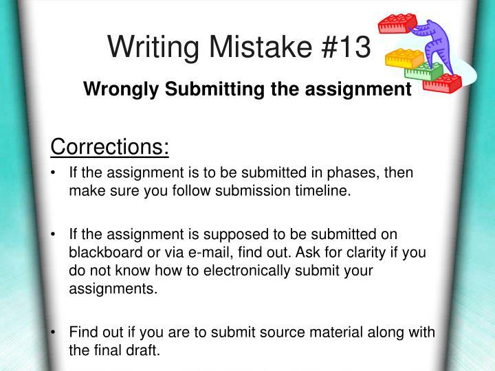 Writing Mistake #13