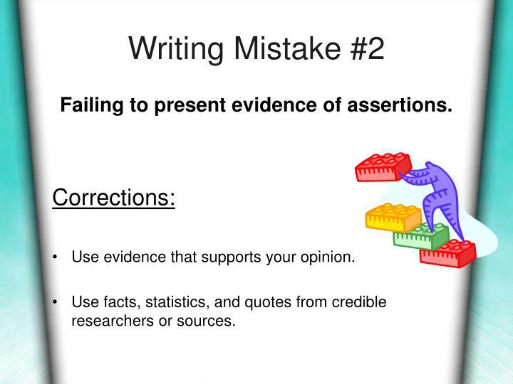 Writing Mistake #2