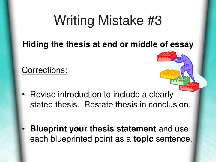 Writing Mistake #3