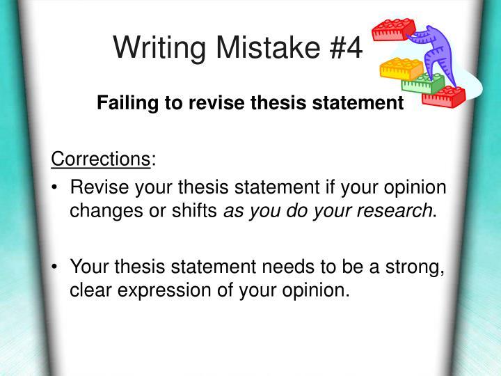 Writing Mistake #4