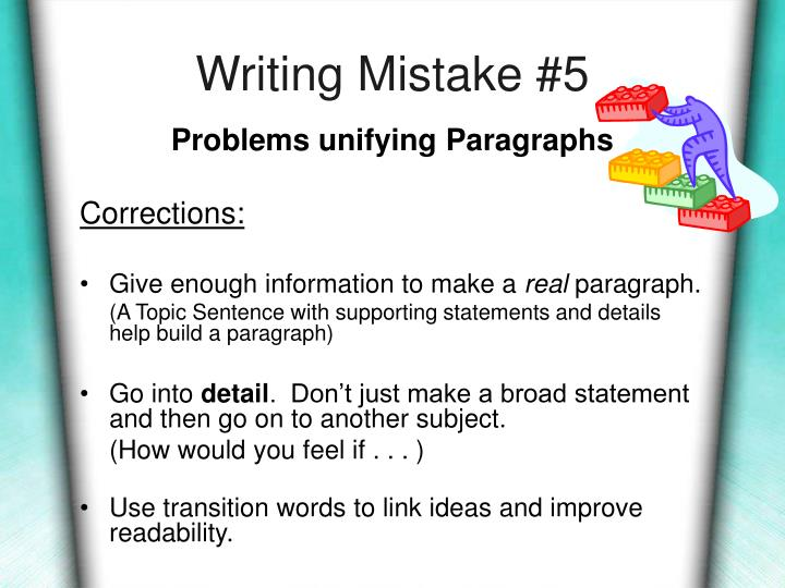 Writing Mistake #5